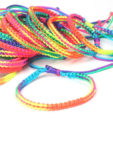 Hot Selling Colorful Women Woven Bracelet