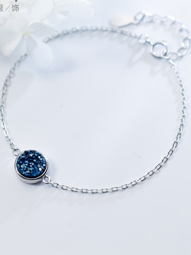 Simple Kyanite 925 Silver Bracelet