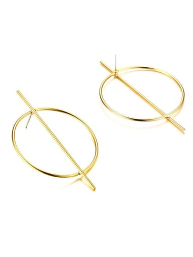 New Round stainless steel gold plated earrings