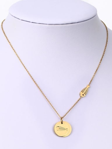 Copper With 18k Gold Plated Trendy Round Necklaces