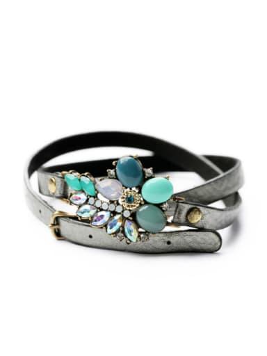 Western Fashion Style Belt Luxurious Multilayer Bracelet