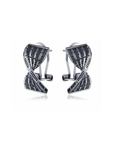 Unisex Personality Link Shaped Stud Earrings