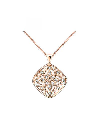 Exquisite Flower Shaped Rhinestone Necklace