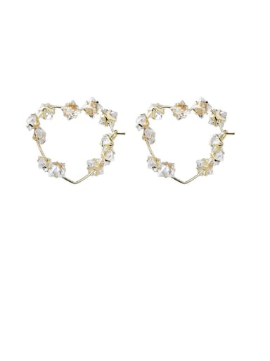 Alloy With Gold Plated Trendy Geometric Clip On Earrings