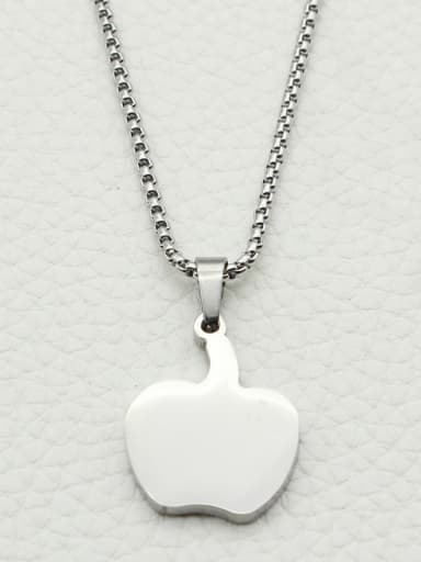 Apple Pendant Stainless Steel Necklace