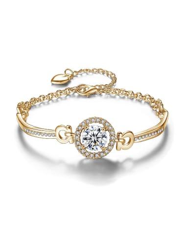Fashion White Cubic Zirconias Alloy Bracelet