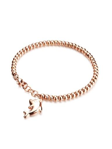 Fashion Beads Dolphin Titanium Bracelet