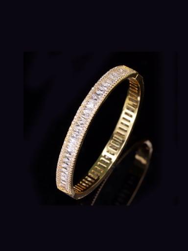 Gold Plated Western New Design Zircons Fashion Bangle