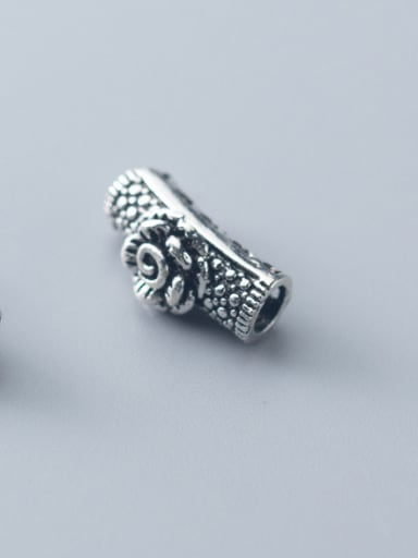 925 Sterling Silver With Antique Silver Plated Vintage Flower Beads