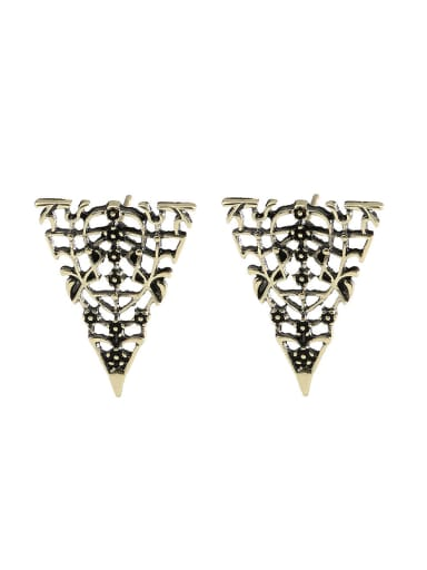 Punk style Hollow Personalized Alloy Stud Earrings