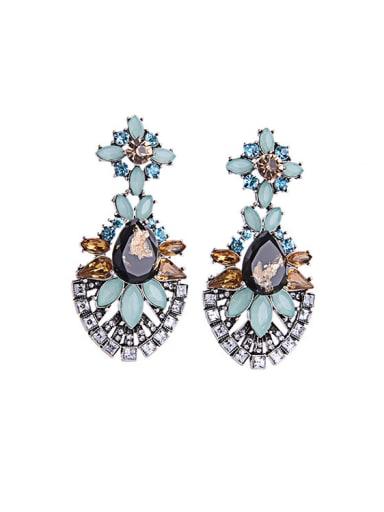 Alloy Luxury Flower Drop Chandelier earring