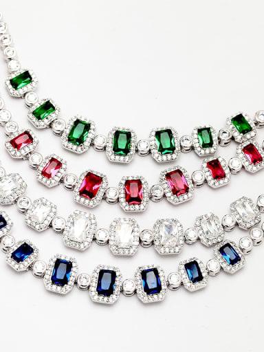 Copper inlaid AAA zircon fashion retro colorful Bracelet