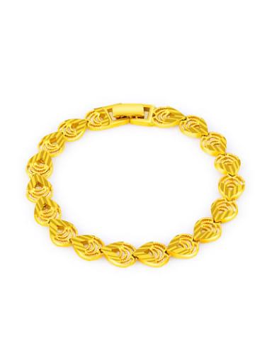 Women Water Drop Shaped Gold Plated Copper Bracelet