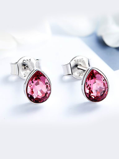 2018 S925 Silver Crystal stud Earring