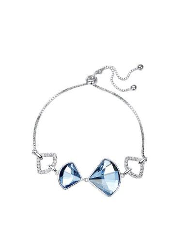 Simple Fan-shaped Swarovski Crystals Bracalet