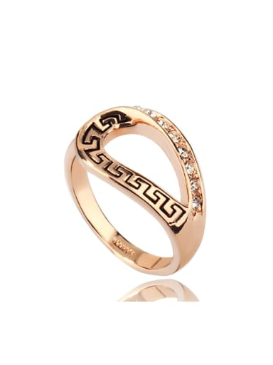 Retro Pattern Simple Style Copper Material Ring