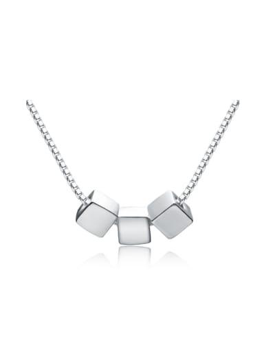 Matt Three Square Accessories Simple Necklace