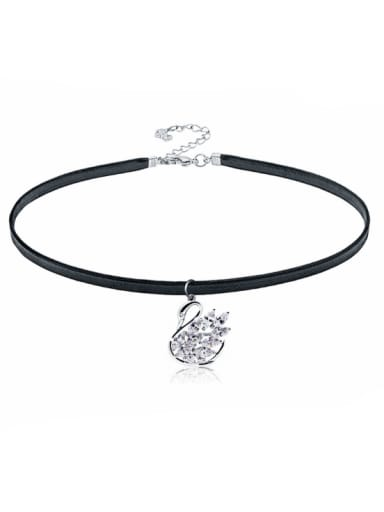 Stainless Steel With Fashion Swan Necklaces