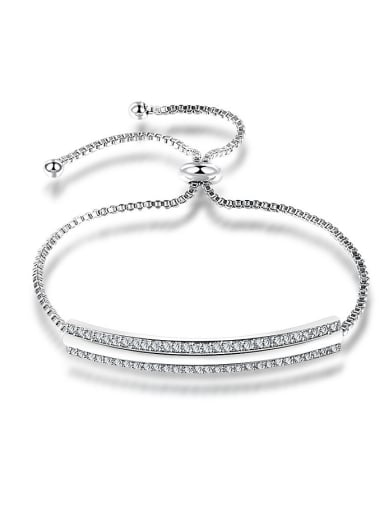 Adjustable Length Double Layer Zircon Bracelet