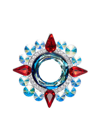 Multi-color Crystals Brooch
