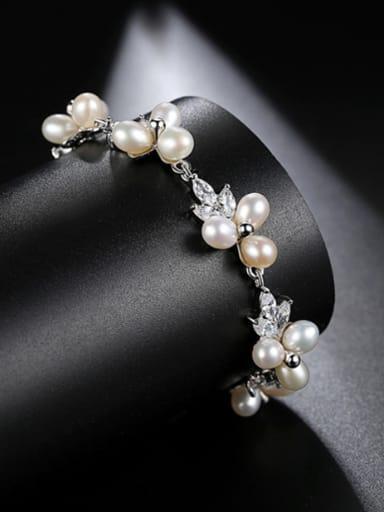 AAA zircon mosaic freshwater pearl Fashion Bracelet