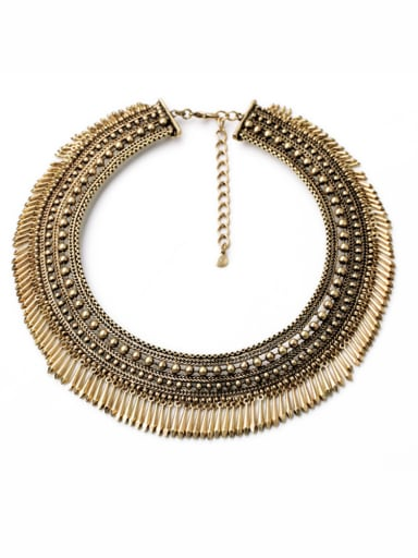 Alloy Exaggerate Nail Shaped Sweater Necklace