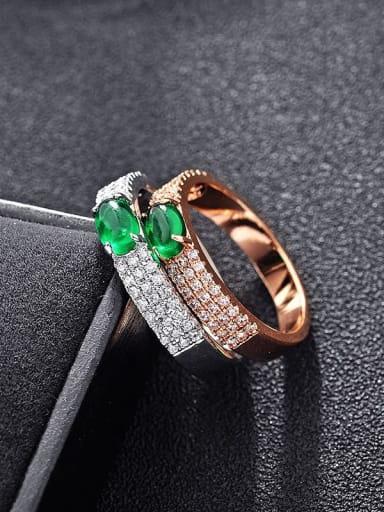 Fashion simple and miniature AAA zircon rings