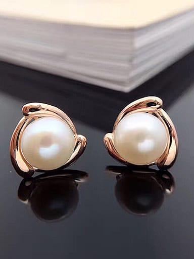2018 2018 2018 2018 2018 Simple Freshwater Pearl stud Earring