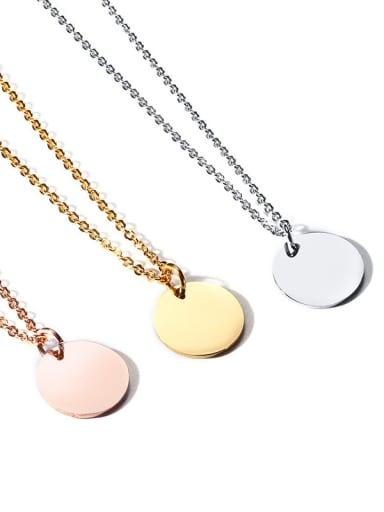 Simple stainless steel unique temperament Necklace
