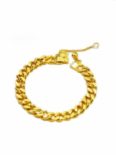 Women Exquisite Geometric Shaped 24K Gold Plated Bracelet