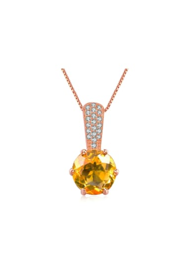 Classical Natural Yellow Crystal Gift Pendant
