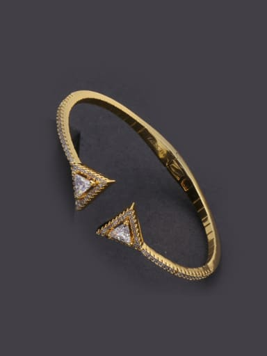 Zircon Opening Copper Bangle