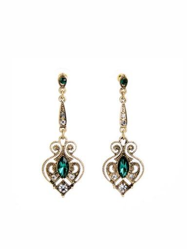 Alloy Retro Hollow Drop Chandelier earring