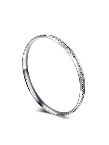All-match Geometric Shaped Stainless Steel Rhinestone Bangle