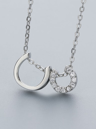 Double C Shaped Necklace