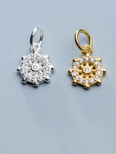 925 Sterling Silver With Cubic Zirconia  Personality Irregular Charms
