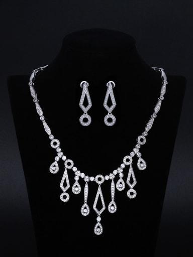 Luxury Two Pieces Jewelry Women Wedding Accessories