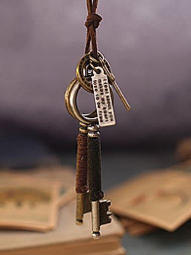Ethnic Style Key Shaped Necklace