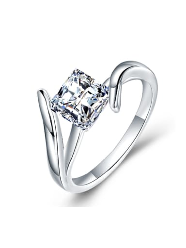 Square AAA Zircons Wedding Accessories Ring