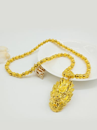 Gold Plated Dragon Shaped Necklace