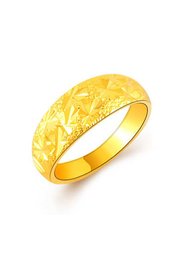 Women Exquisite 24K Gold Plated Star Shaped Ring