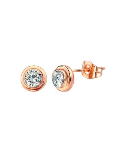 Simple temperament single drill Earring