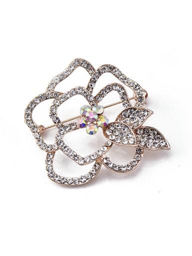 Flower-shape Crystals Brooch