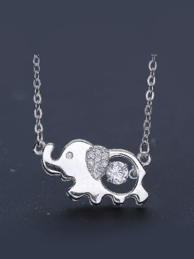 Elephant Zircon Necklace
