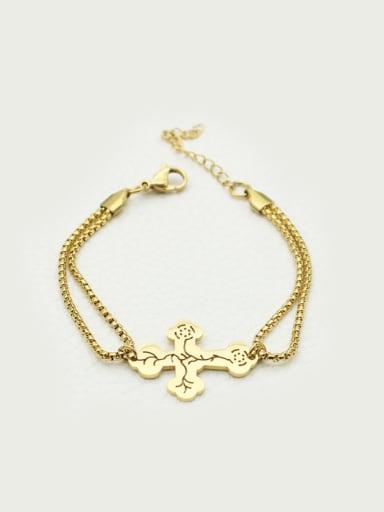 Individuality Cross Double Line Bracelet