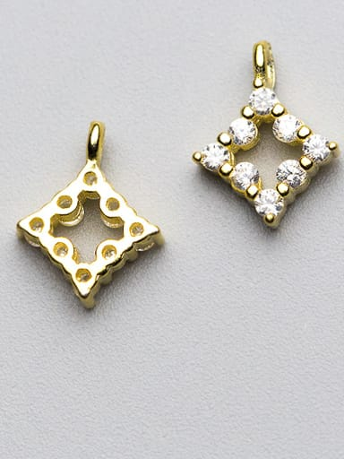 925 Sterling Silver With 18k Gold Plated Delicate Geometric Charms