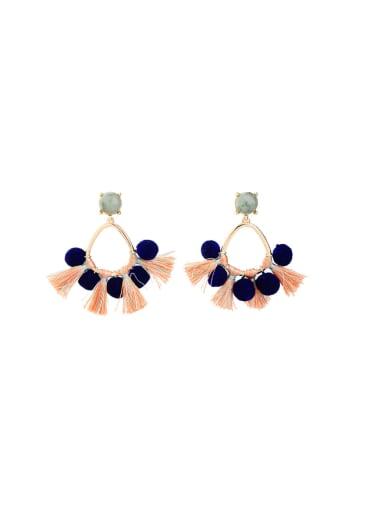 Fashionable Colorful Tassel drop earring