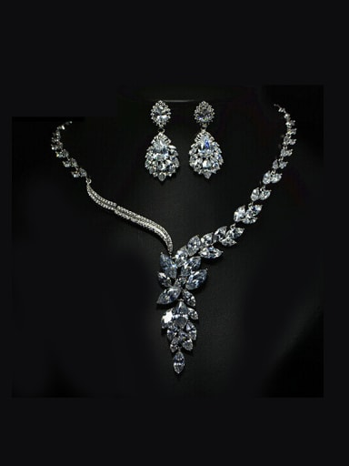 AAA Zircon Two Pieces Set