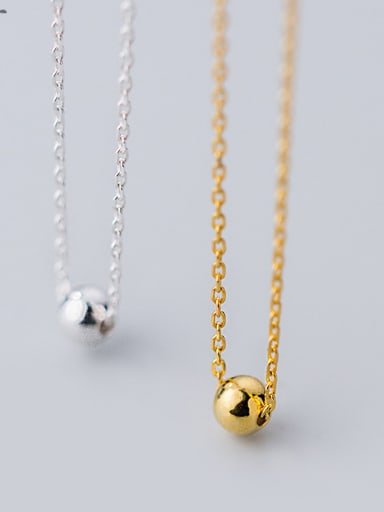 925 Sterling Silver Classic Round ball Necklaces