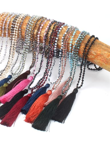 Hot Selling Glass Beads Bohemia Tassel Necklace